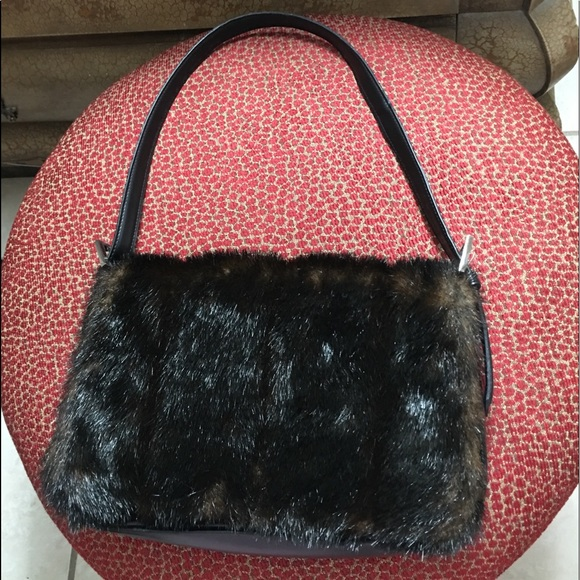 f64ca889da13 Blaine Trump Handbags - Blaine Trump Faux Fur Purse